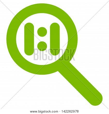 Zoom Actual Scale vector icon. Style is contour flat icon symbol, eco green color, white background.