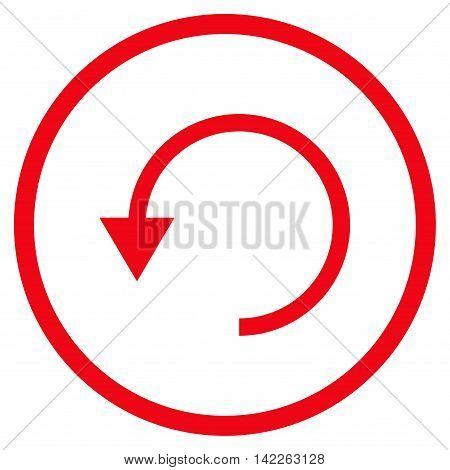 Rotate Ccw vector icon. Style is flat rounded iconic symbol, rotate ccw icon is drawn with red color on a white background.