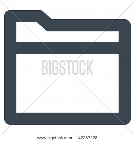 Folder vector icon. Style is linear flat icon symbol, smooth blue color, white background.