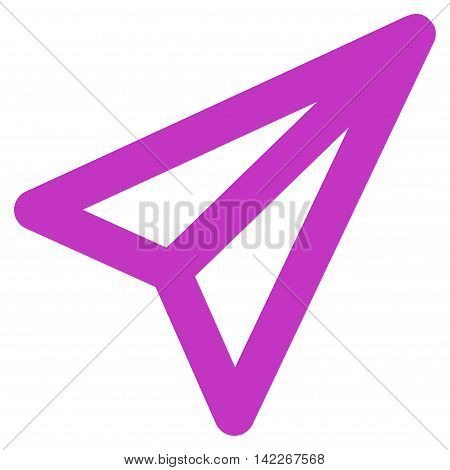 Freelance vector icon. Style is contour flat icon symbol, violet color, white background.