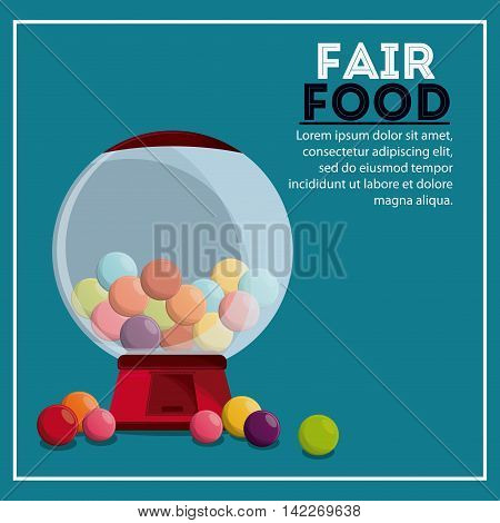 candy sphere fair food snack carnival festival icon. Colorfull illustration. Vector graphic