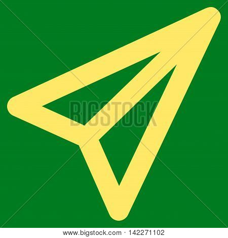 Freelance glyph icon. Style is linear flat icon symbol, yellow color, green background.
