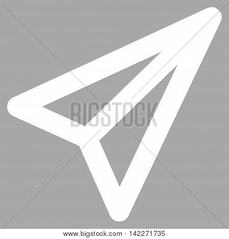 Freelance glyph icon. Style is stroke flat icon symbol, white color, silver background.