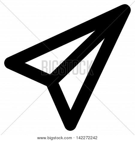 Freelance glyph icon. Style is outline flat icon symbol, black color, white background.