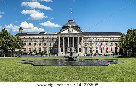 Famous Kurhaus  In Wiesbaden