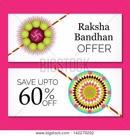 illustration of a Sale Header/Banner for indian festival of raksha bandhan celebration