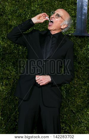 NEW YORK-JUN 7: Actor Larry David attends American Theatre Wing's 69th Annual Tony Awards at Radio City Music Hall on June 7, 2015 in New York City.
