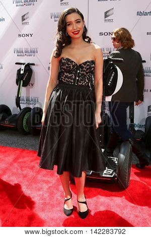 NEW YORK-APR 11: Actress Christian Serratos attends the world premiere of