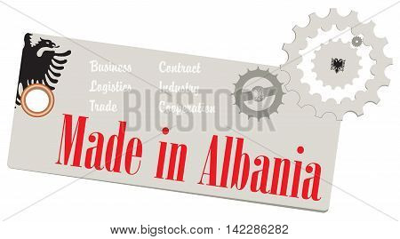 Creative Label Made in Albania for business.