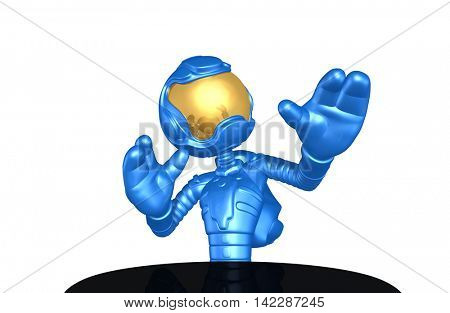 Astronaut Character 3D Illustration