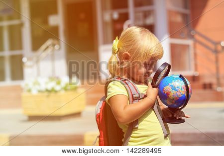 Back to school - little girl going to preschool or daycare