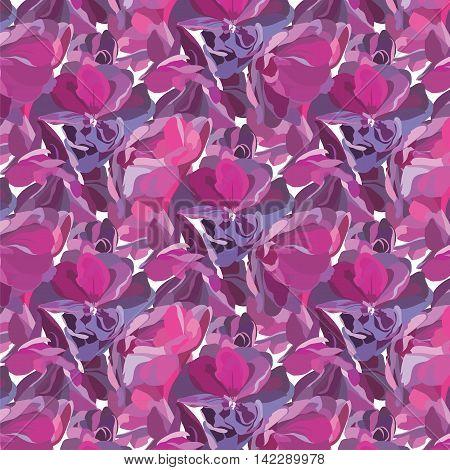 Spring Summer Flower pattern isolated Vector illustration