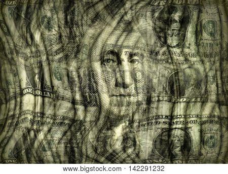 Dreamy Distorted Dollar Design