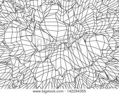 Wave Grid Background. 3d Abstract Vector Illustration.