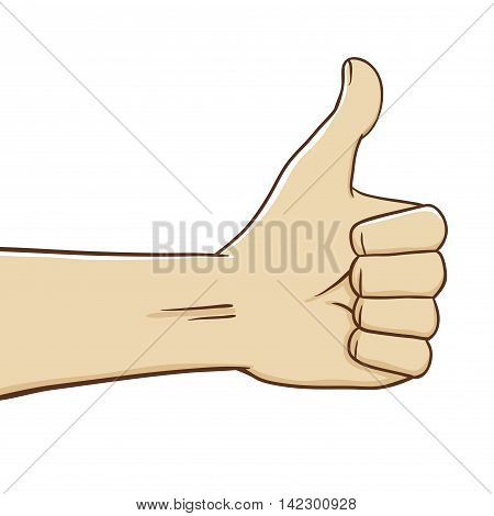 Vector stock of thumb up hand gesture