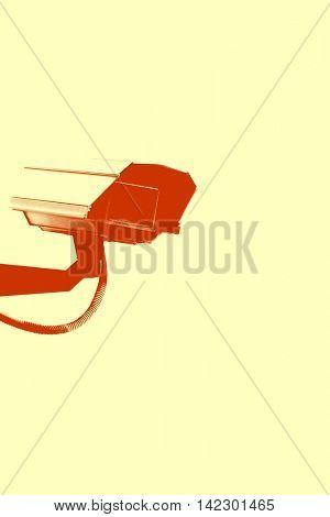 CCTV Camera in red