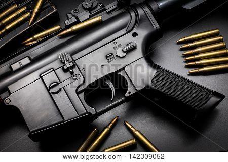 M4A1 assault rifle on black background