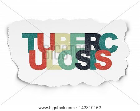 Healthcare concept: Painted multicolor text Tuberculosis on Torn Paper background