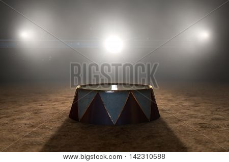 Circus Ring And Podium