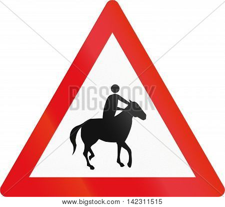 Road Sign Used In The African Country Of Botswana - Horse Riders