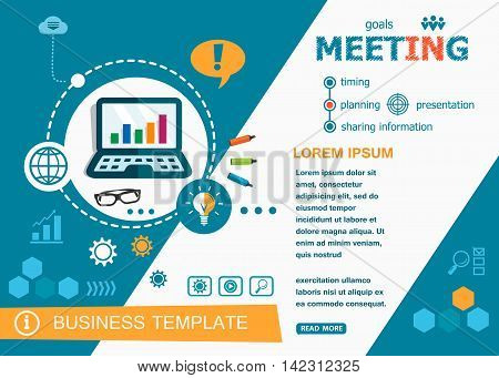 Business Meeting Concepts Of Words Learning And Training.