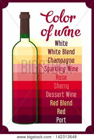 Wine colour. Gradient colors of wine. Vector illustration