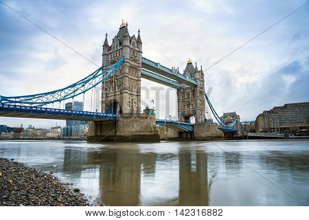 The world famous Tower Bridge in the morning - London, UK