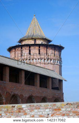 Kremlin in Kolomna, Moscow region, Russia. Color photo.