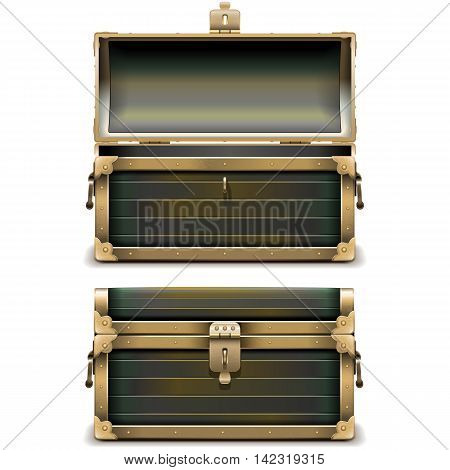Vector Old Chest isolated on white background