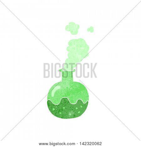 freehand retro cartoon chemical reaction