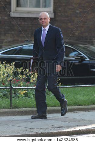 LONDON, UK, MAY 17, 2015: Sajid Javid MP arrives for a Cabinet meeting at Downing Street