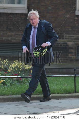 LONDON, UK, MAY 17, 2015: Boris Johnson arrives for a Cabinet meeting at 10 Downing Street
