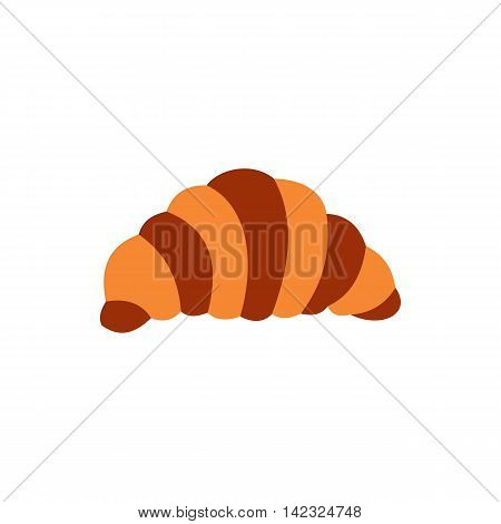 Croissant icon in flat style on a white background