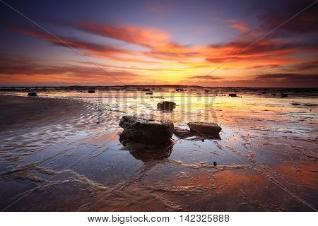 Sunrise Reflections Across Long Reef Australia