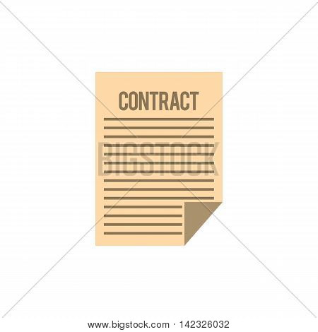 Contract icon in flat style on a white background