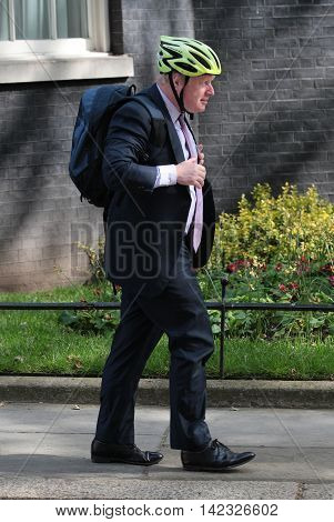 LONDON, UK, MAY 17, 2015: Boris Johnson MP arrives for a Cabinet meeting at 10 Downing Street