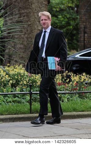 LONDON, UK, MAY 17, 2015: Jo Johnson MP seen at 10 Downing Street