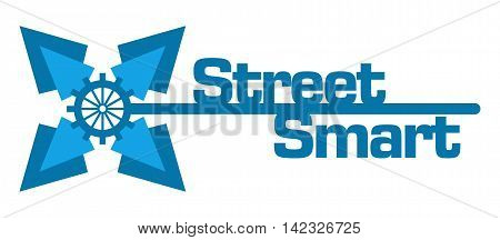 Street smart text written over abstract blue background.