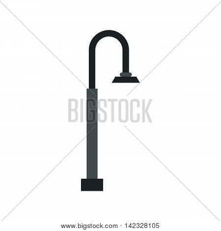 Street light icon in flat style on a white background