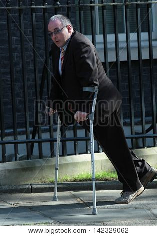 LONDON, UK, MAY 3, 2016: Robert Halfon MP seen arriving in Downing Street for a cabinet meeting
