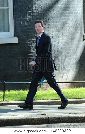 LONDON, UK, MAY 3, 2016: Jeremy Wright MP seen in Downing Street in London