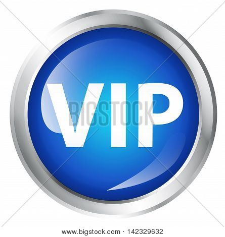 Glossy icon or button with VIP symbol.