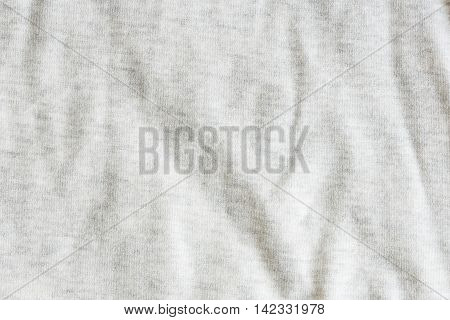 Close up of grey color fabric textured background.