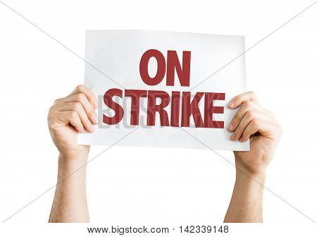 On Strike isolated on white