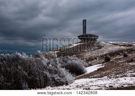 Buzludzha - abandoned bulgarian communist party's building Hadji Dimitar peak