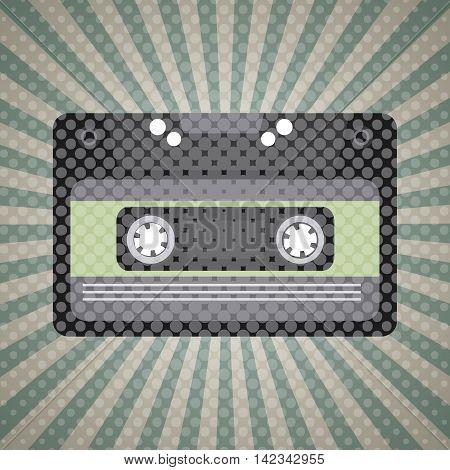 music vintage old popart design, vector illustration eps10