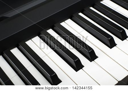 Fragment of a number of electronic piano keyboard