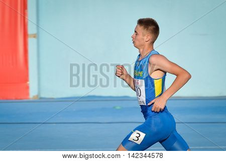 KOLODYSTYY Andriy during 1500 m run boys competition at the European Athletics Youth Championships in the Athletics Stadium Tbilisi Georgia 15 July 2016