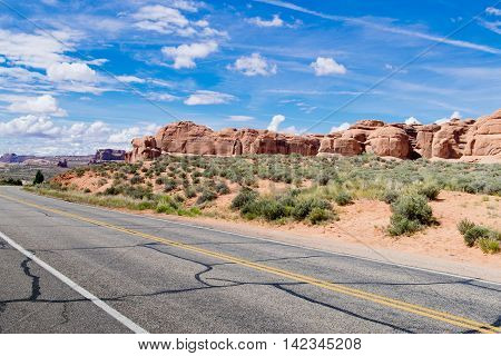 Drive Through in Arches National Park; Utah;USA