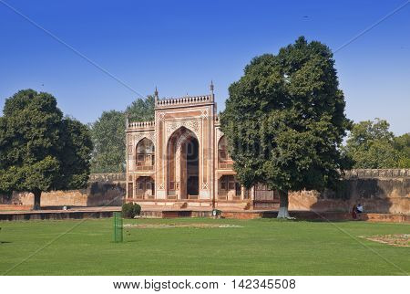 Gate to Itmad-Ud-Daulah's Tomb (Baby Taj) at Agra Uttar Pradesh India
